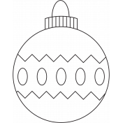 Deck The Halls- Ornament 001c Illustration