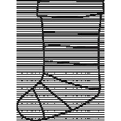 Deck The Halls- Stocking 002 Illustration