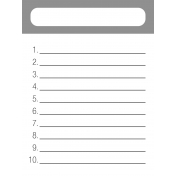 Journal Card 04- Numbered List Template