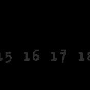 Dates- February Stamp