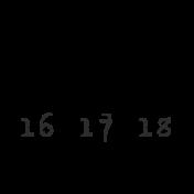 Dates- April Stamp