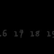 Dates- October Stamp