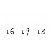 Dates- November Stamp