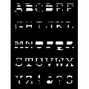 Scrap Shape 42- alphabet