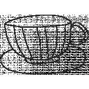 Doodle Tea 03- Cup and Saucer