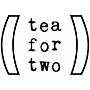 Word Art 4 Template- Tea Cup