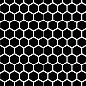Geometric 13 Large Template- Hexagons