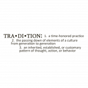 Tradition Definition