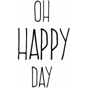 Garden Party Word Art- Oh Happy Day Template