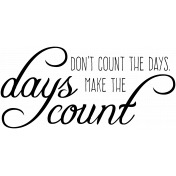 Garden Party Word Art- Days Count Template