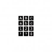 Square Cutout Serif Alpha