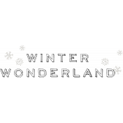Winter Wonderland Word Art