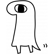 Kawaii- Monster 001 Template