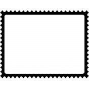 Stamp Frame- 4x3- Round Edge
