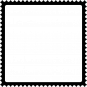 Stamp Frame- 4x4- Round Edge