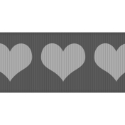 Fat Ribbon Template- Hearts 01