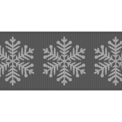 Fat Ribbon Template- Snowflakes