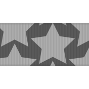 Fat Ribbon Template- Stars 01