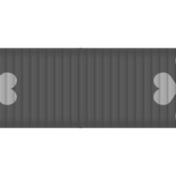 Thin Ribbon Template- Hearts 01