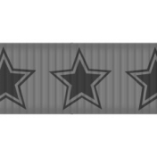 Thin Ribbon Template - Stars 01
