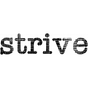 Strive Word Art
