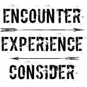 Encounter Experience Consider Word Art