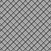 Plaid 34 - Paper Template - Single Color/Diagonal