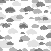 Blended Clouds Paper Template