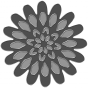 Metal Rimmed Flower Template