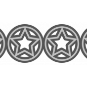 Circle Star Border Template