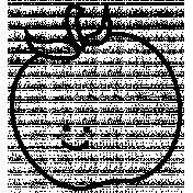 Apple Doodle Template