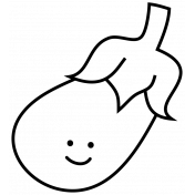 Eggplant Doodle Template