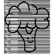 Broccoli Doodle Template