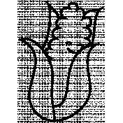 Corn Doodle Template