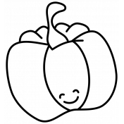 Pumpkin Doodle Template