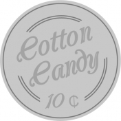 At The Fair- Cotton Candy Label- Template