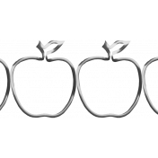 Wire Apple Border Template 01