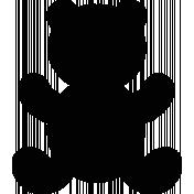 Teddy Bear Shape Mask 01