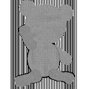 Burlap Teddy Bear Template