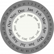 Layered Date Wheel Template