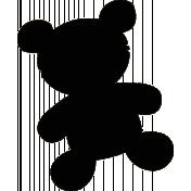 Teddy Bear Shape Mask 02