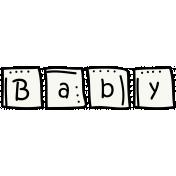 Baby Blocks Doodle Template