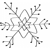Snowflake Doodle Template 001