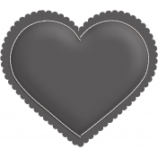 Layered Puffy Heart Template