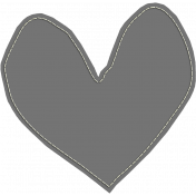 Layered Stitched Paper Heart Template 01