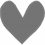 Layered Stitched Paper Heart Template 02