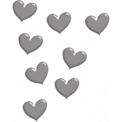 Heart Scatter Template 01