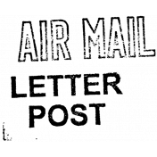 Air Mail Stamp Template 01