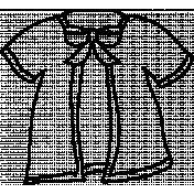 Coat Doodle Template
