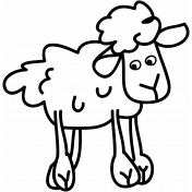 Sheep Doodle Template 01